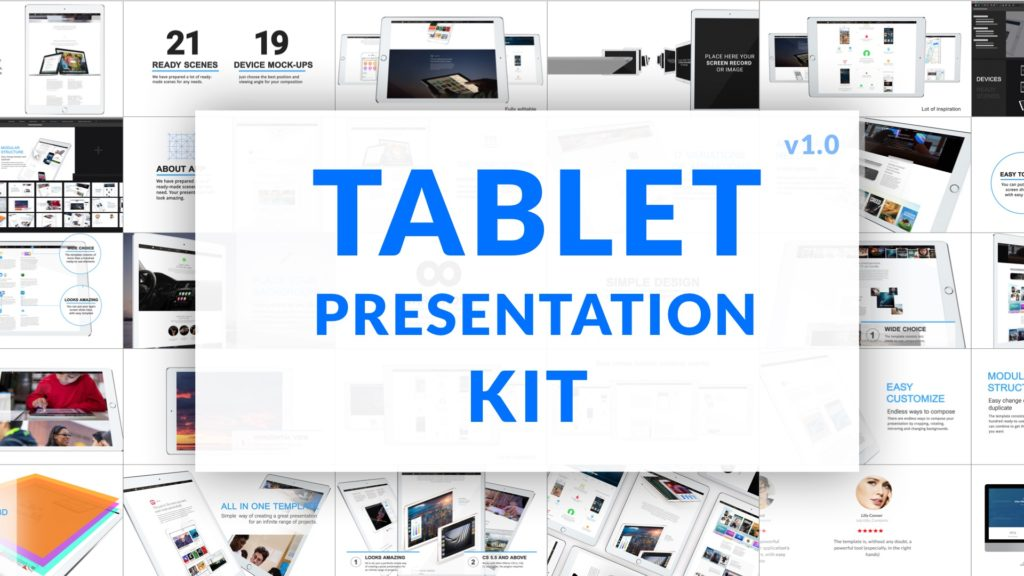 COVER iPad Video Presentation Kit After Effects Template