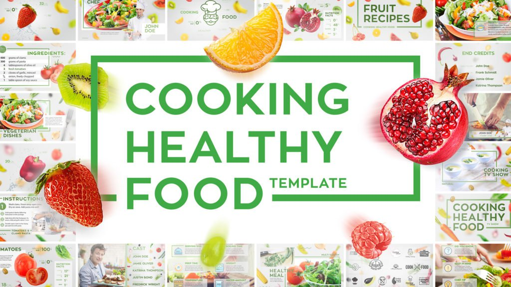 Cooking healthy food cover